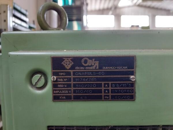 2#6252 Macchine per elettroerosione Onaplus e Ona Datic in vendita - foto 6