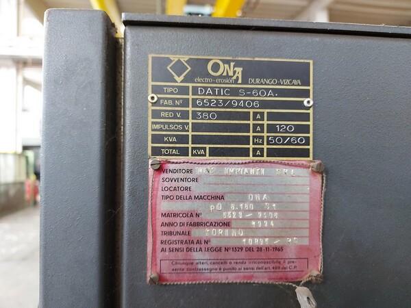 2#6252 Macchine per elettroerosione Onaplus e Ona Datic in vendita - foto 11