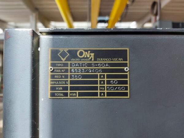 2#6252 Macchine per elettroerosione Onaplus e Ona Datic in vendita - foto 12