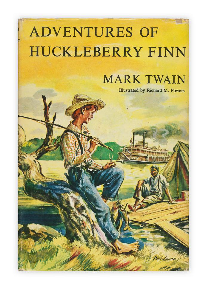 What is the satire in the story Adventures Of Huckleberry Finn?