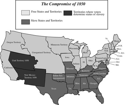 The Compromise Of By Mmk Infogram - Compromise of 1850 map