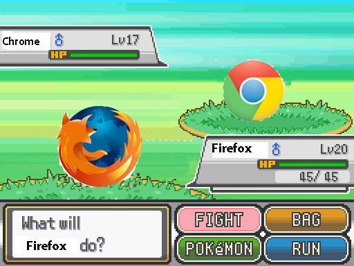 Image result for firefox better than chrome pokemon