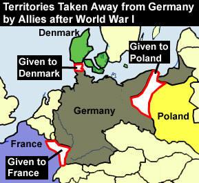 Treaty Of Versailles By Hoovs Infogram - Germany map after the versailles treaty