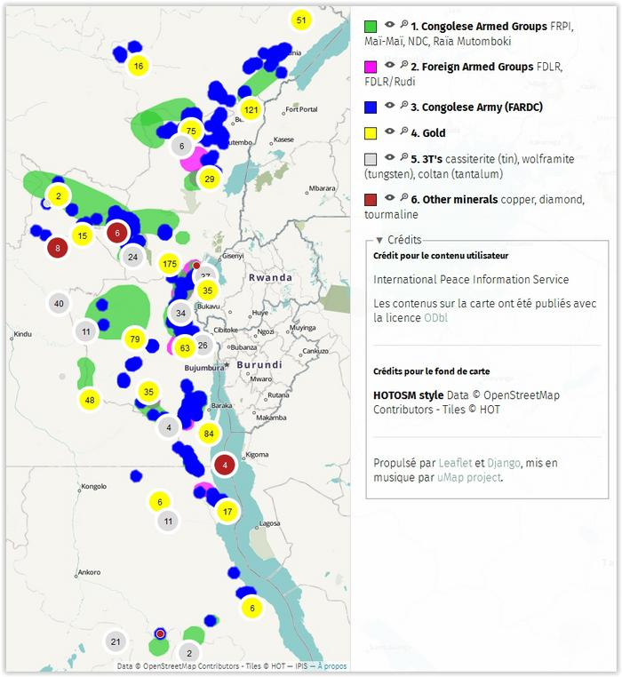 Analysis Of The Interactive Map Of Artisanal Mining Areas In - democratic republic of the clickable map