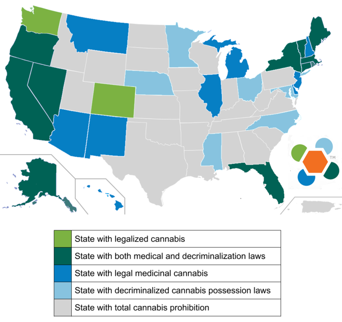 U S State Laws And The Legality Of Cannabis
