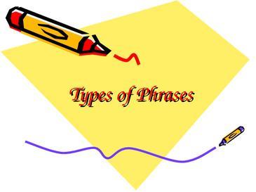 Types of Phrases: Noun Phrase, Verb Phrase, Prepositional