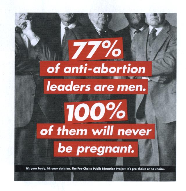 an argument in favor of abortion because its every womans right and choice