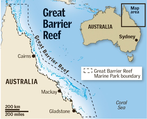 Australia By Theresa77 Infogram: Great Barrier Reef Australia Map At Infoasik.co