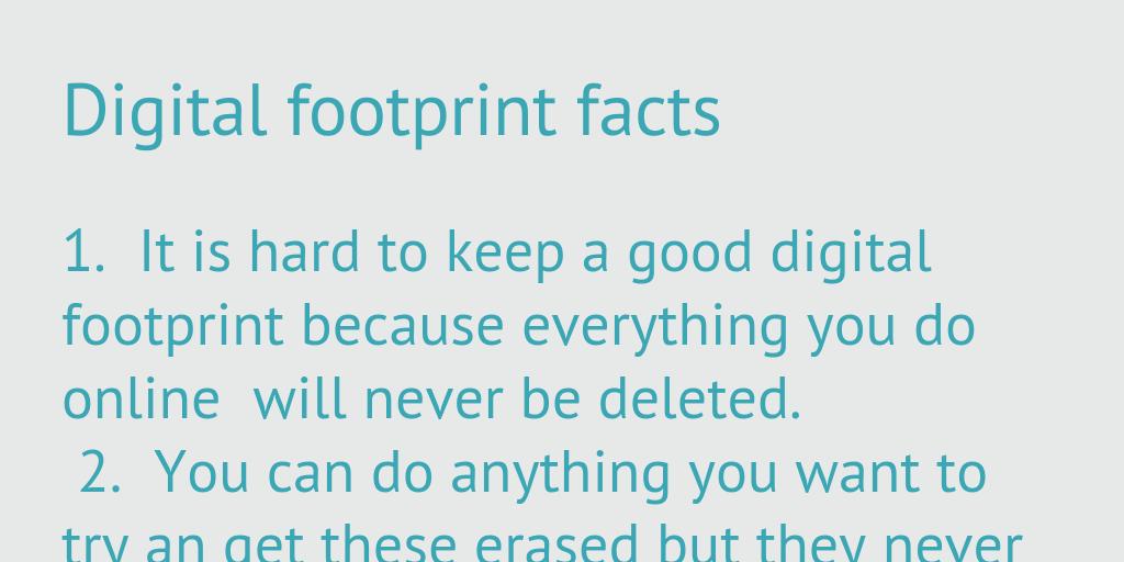 Digital footprint facts/infographics - Infogram, charts & infographics