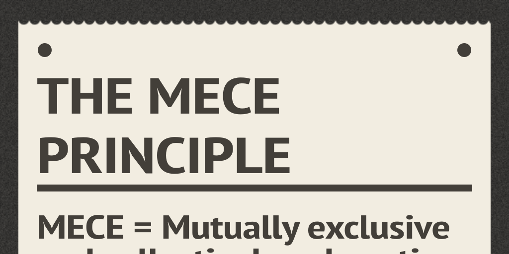 The MECE Principle by preplounge - Infogram