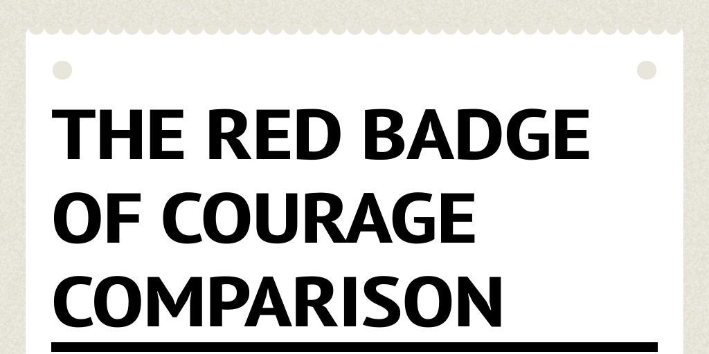 red badge of courage essay conclusion