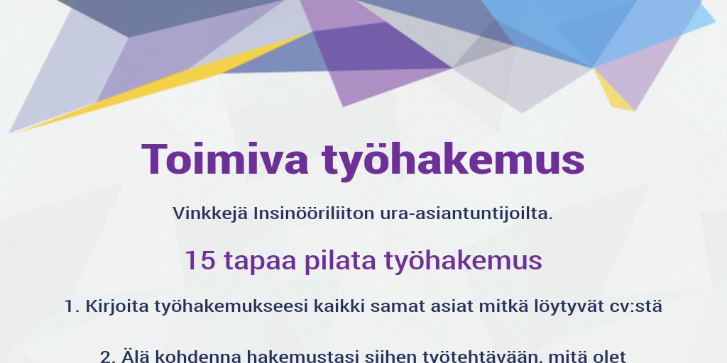 palkkatoive työhakemukseen Pietarsaari