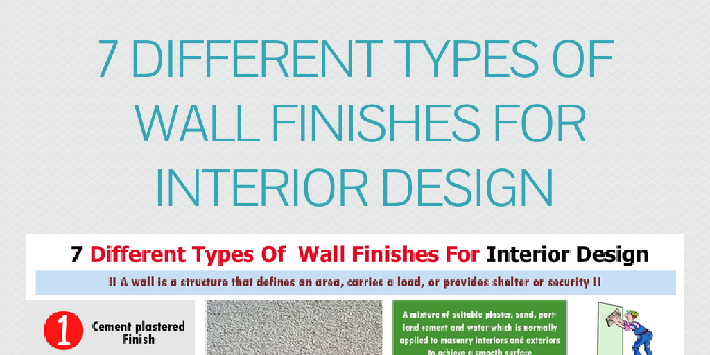 7 different types of wall finishes for interior design by lee hancock infogram