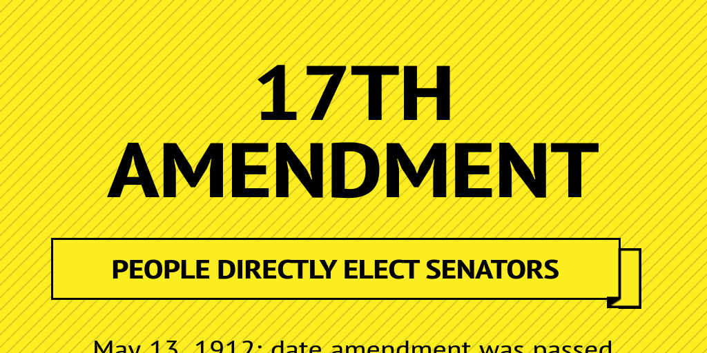 17th amendment We all know that the constitution can be amended, but few know there is one critical exception where the constitution can never be amended there is no majority of congress or majority of states who can deny any state of its right to be represented equally in the senate.