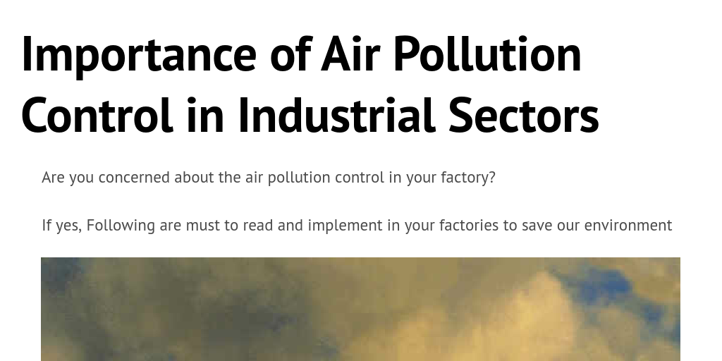 The importance of air