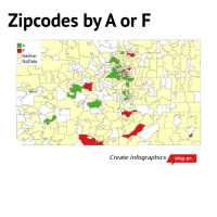 Zipcodes by A or F