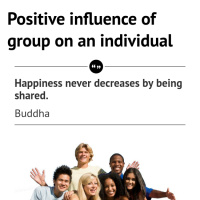 Positive influence of group on an individual