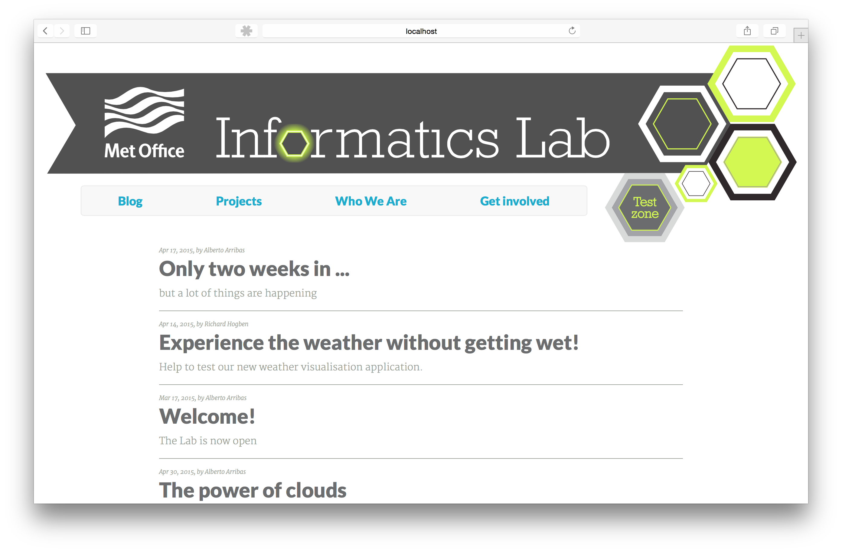 Informatics Lab blog v1.0