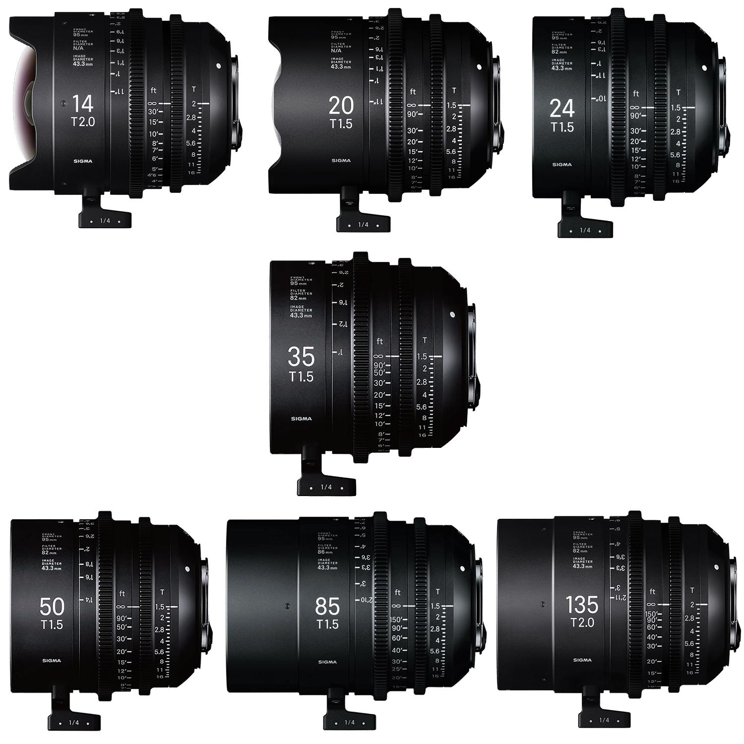 NOW IN STOCK: SIGMA High Speed T2 Cine Prime Lenses!