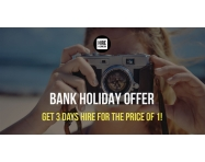 BANK HOLIDAY OFFER: 3 Days Of Hire For The Price Of 1!