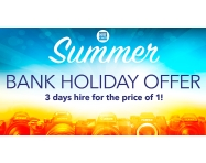 BANK HOLIDAY OFFER: 3 days hire for the price of 1!
