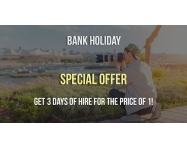 Bank Holiday Special Offer: 3 Days of hire for the price of 1