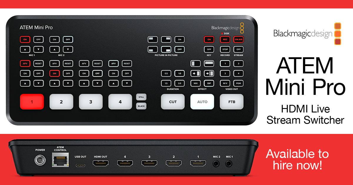 NOW IN STOCK: Blackmagic ATEM Mini Pro!