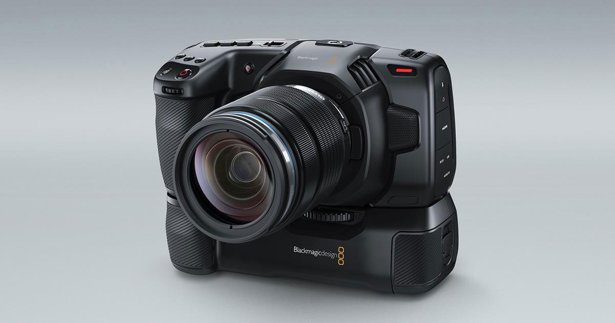 Blackmagic Design announces Blackmagic Pocket Cinema Camera Battery Grip