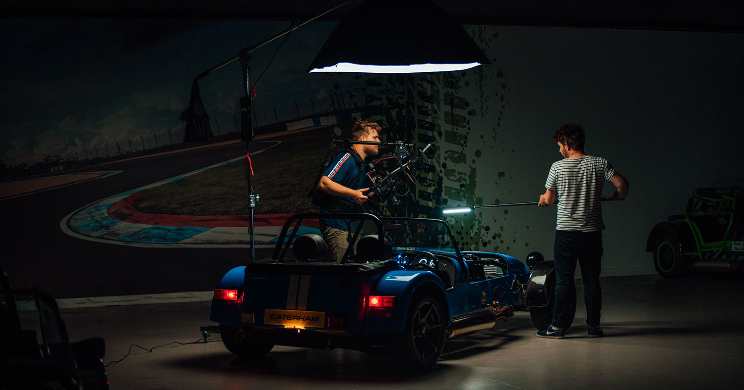 Behind the scenes: EVEN Shoots Five Car Commercials in Five Weeks for Caterham