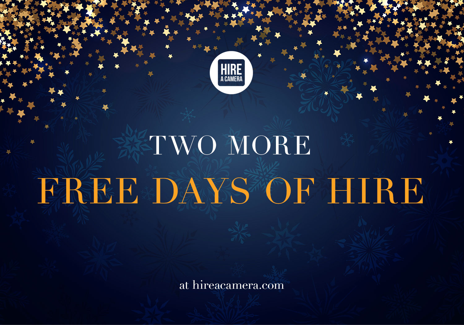 Two more free days of hire!