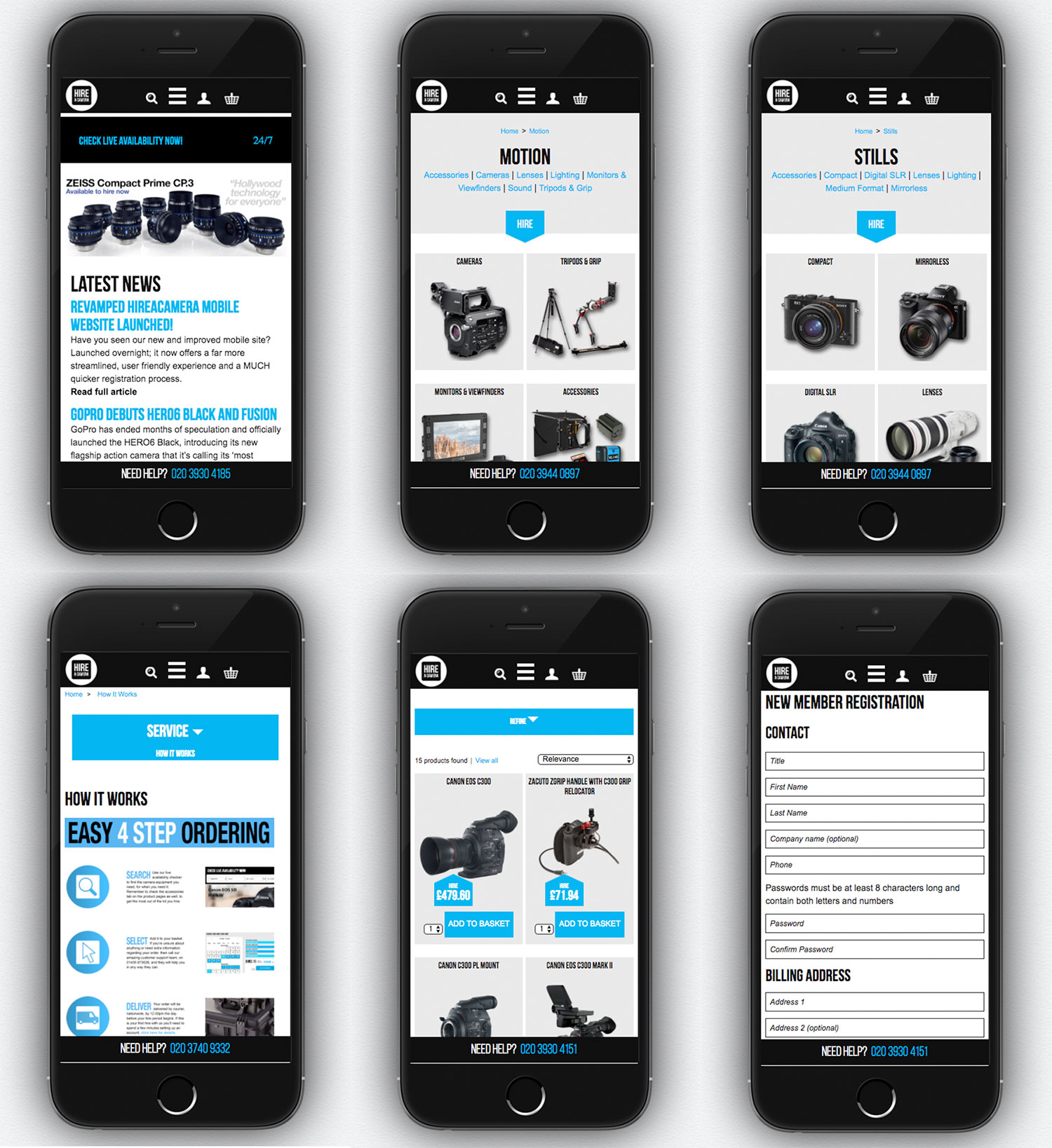 Revamped Hireacamera mobile site launched!