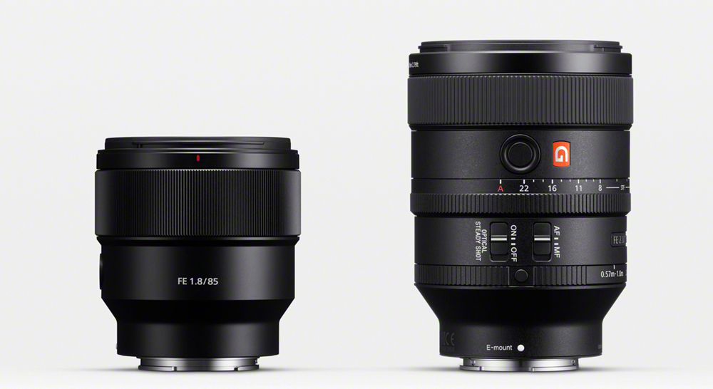 Sony announces 100mm F2.8 STF G Master and FE 85mm F1.8 lenses