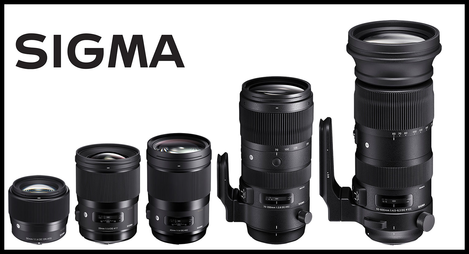 SIGMA NEWS: Five New Global Vision Lenses announced at Photokina 2018
