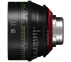Canon 85mm Sumire lens hire