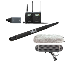 Sennheiser wireless boom hire