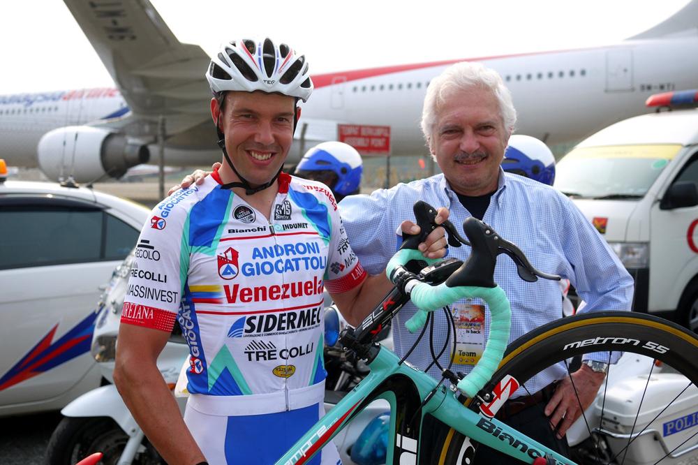 Kenny Van Hummel and Gianni Savio at the Tour de Langkawi