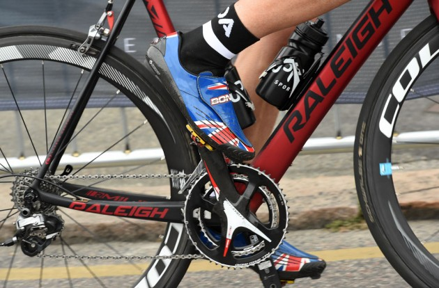 Yanto Barker's shoes, Jersey International Road Race 2014