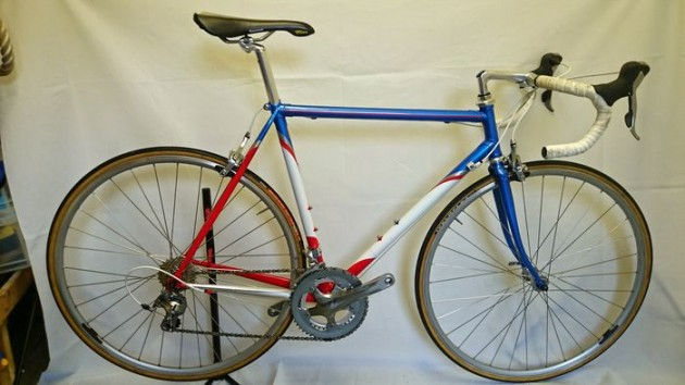 Photo: A replica of Team Motorola's Merckx road bike from 1994.