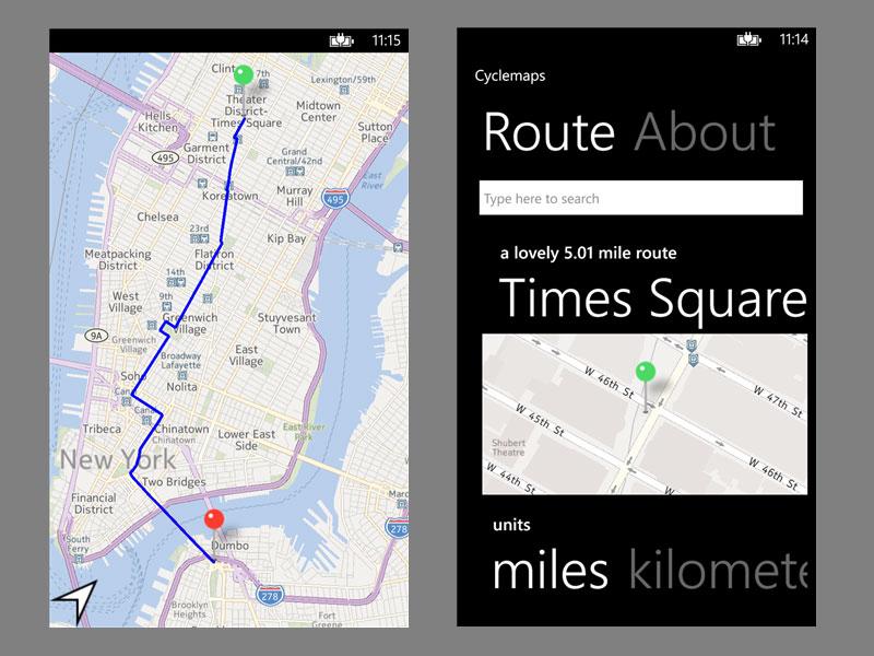 CycleMaps app