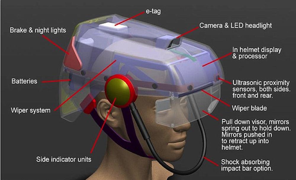 Un casque de vélo intelligent, à défaut d'être beau Smart-hat-1