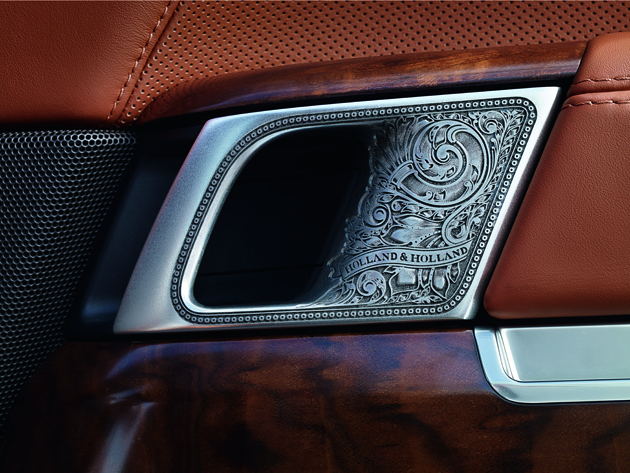 Holland & Holland Range Rover  - engraved door handles