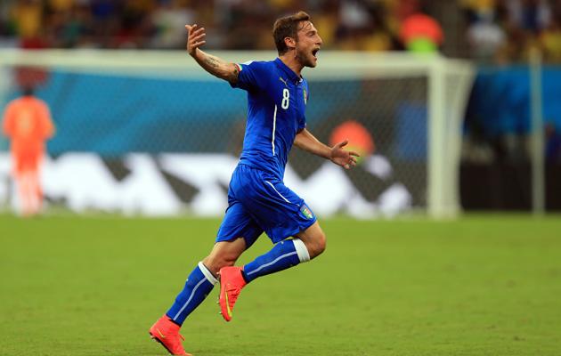 Marchisio celebrates scoring