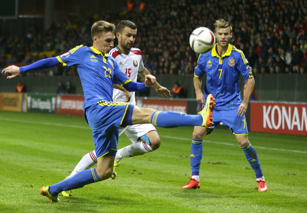Belarus Ukraine Soccer