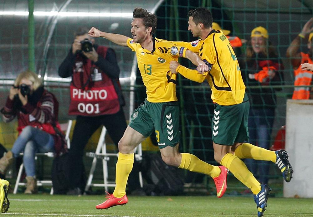 Lithuania Estonia Euro Soccer