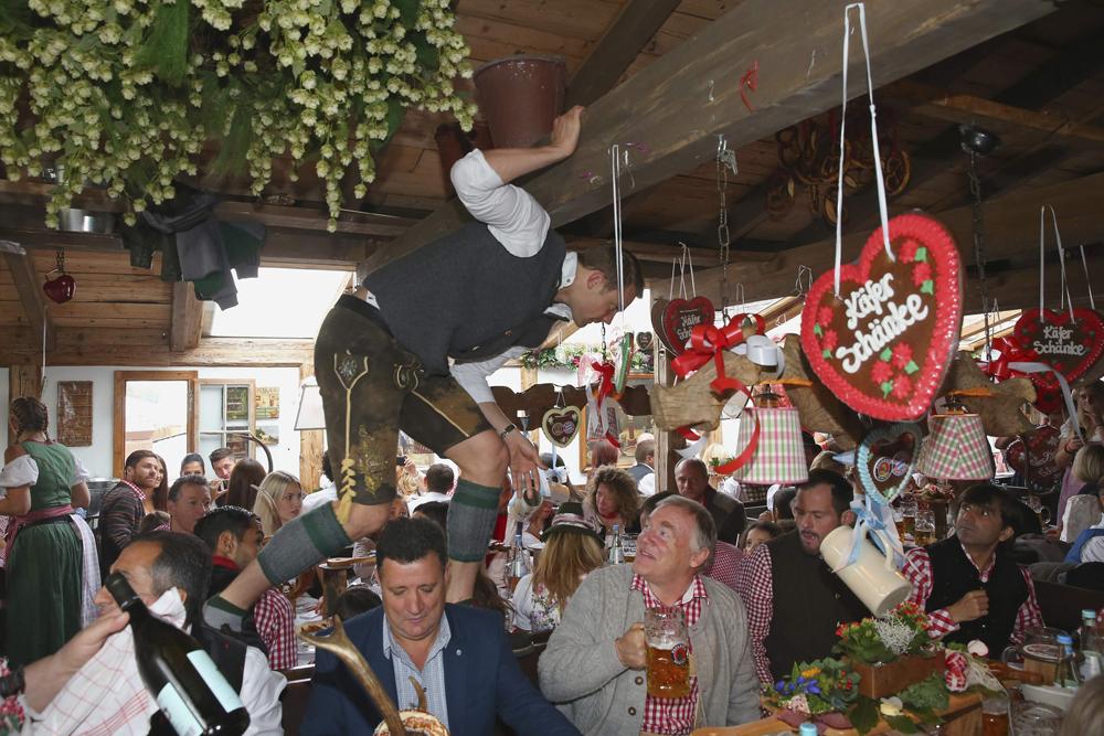 Neuer of Bayern Munich attends the Oktoberfest 2014 beer festival in Munich
