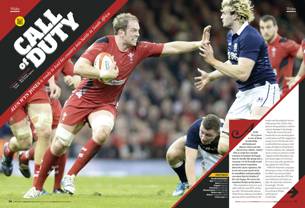 Leading man: Alun Wyn Jones talks South Africa, central contracts and game plans in RW