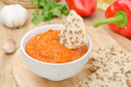 Spicy Roasted Pepper Dip