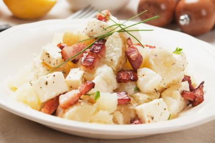Hot Potato Salad With Bacon Specks