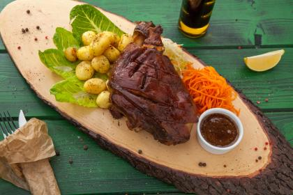 Barbecue Butterflied Leg Of Lamb