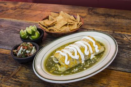 Green Chile Avocado Enchiladas